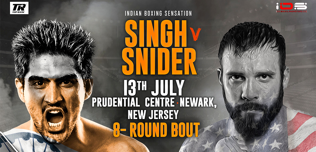 Vijender Singh to face Mike Snider on 13 July in New Jersey for his US debut